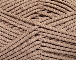 This is a tube-like yarn with soft fleece inside. Fiber Content 73% Viscose, 27% Polyester, Brand Ice Yarns, Camel, Yarn Thickness 5 Bulky  Chunky, Craft, Rug, fnt2-35601