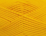 This is a tube-like yarn with soft fleece inside. Fiber Content 73% Viscose, 27% Polyester, Yellow, Brand ICE, Yarn Thickness 5 Bulky  Chunky, Craft, Rug, fnt2-35603
