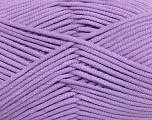 This is a tube-like yarn with soft fleece inside. Fiber Content 73% Viscose, 27% Polyester, Lavender, Brand Ice Yarns, Yarn Thickness 5 Bulky  Chunky, Craft, Rug, fnt2-35608