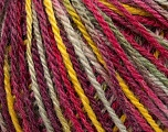 Fiber Content 50% Wool, 50% Acrylic, Yellow, Pink, Maroon, Khaki, Brand ICE, Yarn Thickness 3 Light  DK, Light, Worsted, fnt2-35653