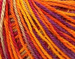 Fiber Content 50% Wool, 50% Acrylic, Yellow, Pink, Orange, Lilac, Brand ICE, Yarn Thickness 3 Light  DK, Light, Worsted, fnt2-35687