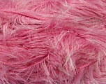 Fiber Content 100% Polyester, White, Light Pink, Brand ICE, Yarn Thickness 5 Bulky  Chunky, Craft, Rug, fnt2-36737