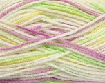 Fiber Content 90% Acrylic, 10% Polyamide, Yellow, White, Lilac, Brand ICE, Green, Yarn Thickness 2 Fine  Sport, Baby, fnt2-37983