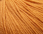 Fiber Content 100% Wool, Light Orange, Brand ICE, Yarn Thickness 4 Medium  Worsted, Afghan, Aran, fnt2-37999
