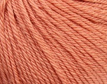 Fiber Content 100% Wool, Light Salmon, Brand ICE, Yarn Thickness 4 Medium  Worsted, Afghan, Aran, fnt2-38004