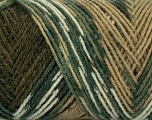 Fiber Content 50% Acrylic, 50% Wool, White, Brand ICE, Green Shades, Camel, Yarn Thickness 3 Light  DK, Light, Worsted, fnt2-39910