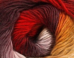 Fiber Content 50% Wool, 50% Acrylic, Yellow, White, Red, Maroon, Brand ICE, fnt2-40626