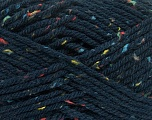 Fiber Content 72% Acrylic, 3% Viscose, 25% Wool, Navy, Brand ICE, Yarn Thickness 6 SuperBulky  Bulky, Roving, fnt2-40842