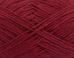 Please note that the yarn weight and the ball length may vary from one color to another for this yarn. Fiber Content 100% Cotton, Brand ICE, Burgundy, Yarn Thickness 3 Light  DK, Light, Worsted, fnt2-40906