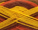 Fiber Content 75% Acrylic, 25% Wool, Yellow, Brand ICE, Green, Copper, Brown, fnt2-41155