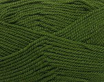 Fiber Content 80% Acrylic, 20% Wool, Brand ICE, Dark Green, Yarn Thickness 4 Medium  Worsted, Afghan, Aran, fnt2-41253