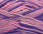 Fiber Content 100% Cotton, Pink Shades, Lilac, Brand ICE, Yarn Thickness 3 Light  DK, Light, Worsted, fnt2-41315
