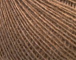 Fiber Content 55% Acrylic, 25% Alpaca, 20% Wool, Light Brown, Brand ICE, fnt2-42146