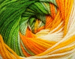 Fiber Content 100% Premium Acrylic, Yellow, White, Orange, Brand Ice Yarns, Green Shades, Yarn Thickness 3 Light  DK, Light, Worsted, fnt2-42195