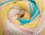 Fiber Content 100% Premium Acrylic, Yellow, White, Pink, Brand Ice Yarns, Blue, Yarn Thickness 3 Light  DK, Light, Worsted, fnt2-42197