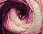 Fiber Content 100% Premium Acrylic, White, Pink Shades, Maroon, Brand Ice Yarns, Yarn Thickness 3 Light  DK, Light, Worsted, fnt2-42201