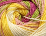 Fiber Content 100% Premium Acrylic, Yellow, White, Rose Pink, Pink, Brand ICE, Green, Yarn Thickness 3 Light  DK, Light, Worsted, fnt2-42204