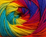 Fiber Content 100% Premium Acrylic, Rainbow, Brand Ice Yarns, Yarn Thickness 3 Light  DK, Light, Worsted, fnt2-42205