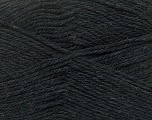 Fiber Content 100% Virgin Wool, Brand ICE, Anthracite Black, Yarn Thickness 3 Light  DK, Light, Worsted, fnt2-42304