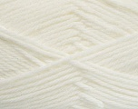 Fiber Content 50% Polyamide, 50% Acrylic, White, Brand ICE, Yarn Thickness 3 Light  DK, Light, Worsted, fnt2-42370