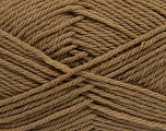 Fiber Content 50% Acrylic, 50% Polyamide, Brand ICE, Brown, Yarn Thickness 3 Light  DK, Light, Worsted, fnt2-42371
