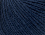 SUPERWASH MERINO is a worsted weight 100% superwash merino yarn available in 47 beautiful colors. Marvelous hand, perfect stitch definition, and a soft-but-sturdy finished fabric. Projects knit and crocheted in SUPERWASH MERINO are machine washable! Lay flat to dry. Fiber Content 100% Superwash Merino Wool, Navy, Brand ICE, Yarn Thickness 4 Medium  Worsted, Afghan, Aran, fnt2-42471