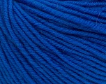 SUPERWASH MERINO is a worsted weight 100% superwash merino yarn available in 47 beautiful colors. Marvelous hand, perfect stitch definition, and a soft-but-sturdy finished fabric. Projects knit and crocheted in SUPERWASH MERINO are machine washable! Lay flat to dry. Fiber Content 100% Superwash Merino Wool, Royal Blue, Brand ICE, Yarn Thickness 4 Medium  Worsted, Afghan, Aran, fnt2-42473