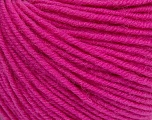 SUPERWASH MERINO is a worsted weight 100% superwash merino yarn available in 47 beautiful colors. Marvelous hand, perfect stitch definition, and a soft-but-sturdy finished fabric. Projects knit and crocheted in SUPERWASH MERINO are machine washable! Lay flat to dry. Fiber Content 100% Superwash Merino Wool, Brand ICE, Candy Pink, Yarn Thickness 4 Medium  Worsted, Afghan, Aran, fnt2-42476
