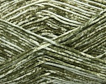 Strong pure cotton yarn in beautiful colours, reminiscent of bleached denim. Machine washable and dryable. Fiber Content 100% Cotton, White, Khaki, Brand ICE, Yarn Thickness 3 Light  DK, Light, Worsted, fnt2-42565