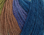 Fiber Content 100% Wool, Navy, Lilac, Brand Ice Yarns, Green, Camel, Blue, Yarn Thickness 4 Medium  Worsted, Afghan, Aran, fnt2-42676