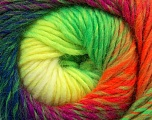 Fiber Content 70% Dralon, 30% Wool, Purple, Neon Yellow, Neon Orange, Neon Green, Navy, Brand ICE, fnt2-42704