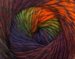 Fiber Content 70% Dralon, 30% Wool, Orange, Navy, Maroon, Brand ICE, Green, Burgundy, Yarn Thickness 4 Medium  Worsted, Afghan, Aran, fnt2-42705