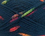 Make a knot on the spots part of the yarn while knitting to give a pompom look. Fiber Content 76% Acrylic, 13% Polyamide, 11% Wool, Neon Colors, Navy, Brand ICE, Yarn Thickness 5 Bulky  Chunky, Craft, Rug, fnt2-42780