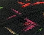 Make a knot on the spots part of the yarn while knitting to give a pompom look. Fiber Content 76% Acrylic, 13% Polyamide, 11% Wool, Neon Colors, Brand ICE, Black, Yarn Thickness 5 Bulky  Chunky, Craft, Rug, fnt2-42781