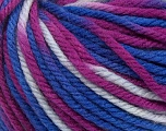 SUPERWASH WOOL BULKY is a bulky weight 100% superwash wool yarn. Perfect stitch definition, and a soft-but-sturdy finished fabric. Projects knit and crocheted in SUPERWASH WOOL BULKY are machine washable! Lay flat to dry. Fiber Content 100% Superwash Wool, Purple, Brand ICE, Blue Shades, Yarn Thickness 5 Bulky  Chunky, Craft, Rug, fnt2-42857
