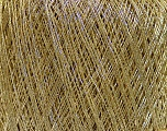 Fiber Content 70% Metallic Lurex, 15% Cotton, 15% Viscose, Brand Ice Yarns, Gold, fnt2-43054