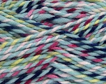 Fiber Content 100% Acrylic, Yellow, Pink, Navy, Light Blue, Brand Ice Yarns, fnt2-43512
