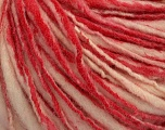 Fiberinnhold 100% Ull, Red, Pink, Brand Ice Yarns, Cream, Yarn Thickness 4 Medium  Worsted, Afghan, Aran, fnt2-43560