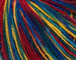 Composition 100% Acrylique, Yellow, Red, Brand Ice Yarns, Blue, Yarn Thickness 2 Fine  Sport, Baby, fnt2-43710