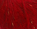 Fiber Content 31% Acrylic, 30% Polyamide, 24% Mohair, 15% Metallic Lurex, Red, Brand Ice Yarns, fnt2-43911