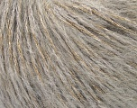 Composition 40% Polyamide, 31% Acrylique, 29% Mohair, Light Grey, Brand Ice Yarns, fnt2-43924