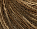 Fiberinnhold 50% Ull, 50% Akryl, Brand Ice Yarns, Brown Shades, fnt2-43980