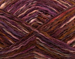 Composition 52% Laine, 48% Acrylique, Purple, Maroon, Brand Ice Yarns, Burgundy, Brown, fnt2-44075