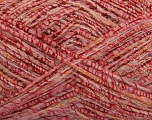 Fiber Content 40% Acrylic, 30% Metallic Lurex, 20% Mohair, 10% Wool, Light Pink, Brand Ice Yarns, fnt2-44092