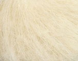 Composition 70% Mohair, 30% Acrylique, Brand Ice Yarns, Cream, fnt2-44159