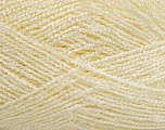 Fiber Content 57% Polyester, 27% Viscose, 16% Dralon, Light Cream, Brand Ice Yarns, fnt2-44504