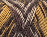Fiber Content 50% Acrylic, 50% Wool, Brand Ice Yarns, Gold, Brown Shades, fnt2-44545