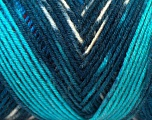 Fiber Content 50% Acrylic, 50% Wool, White, Turquoise, Red, Brand Ice Yarns, Blue, Black, fnt2-44556