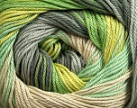 Fiber Content 100% Mercerised Cotton, Brand Ice Yarns, Grey Shades, Green Shades, Beige, fnt2-44692