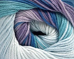 Fiber Content 100% Mercerised Cotton, Lilac Shades, Brand Ice Yarns, Blue Shades, fnt2-44693